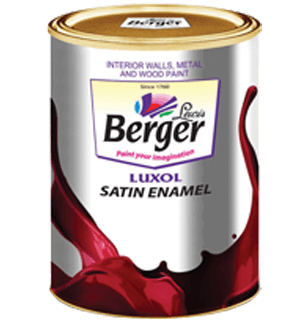 Berger Luxol Satin Enamel - Best for Interior & Exterior Paint