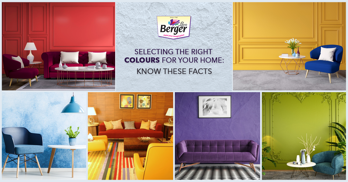 Selecting the right colours for your home: Know these facts