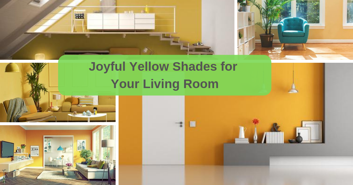 Joyful Yellow Shades for Your Living Room