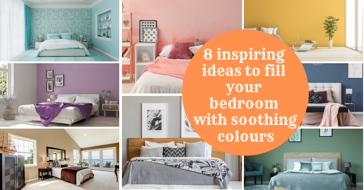 8 inspiring ideas to fill your bedroom with soothing colours