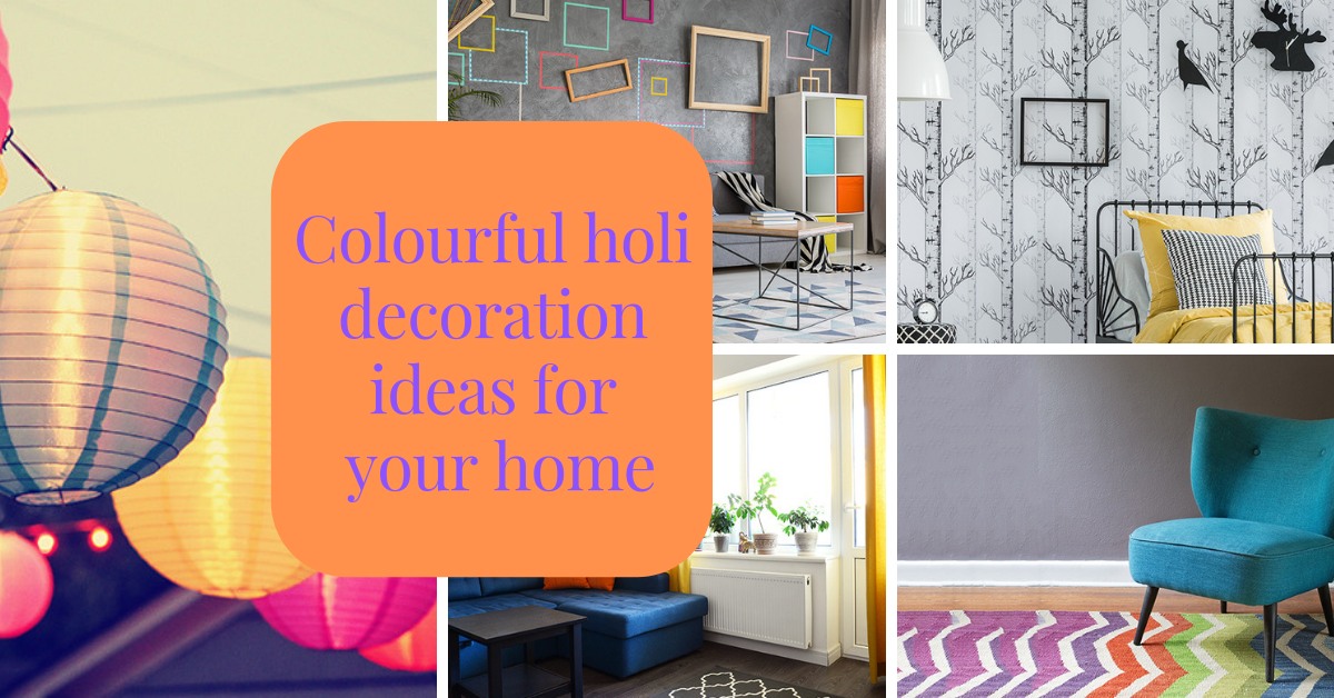 Colourful holi decoration ideas for your home