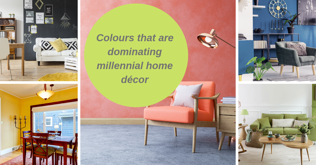 Colours that are dominating millennial home decor