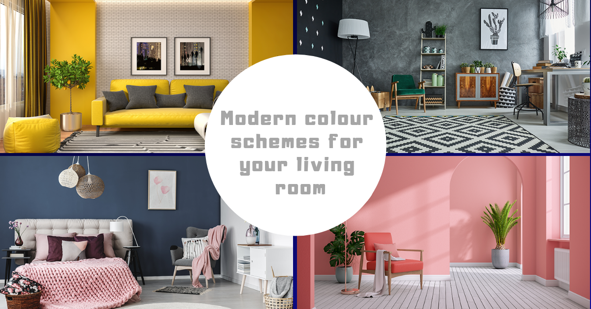 Modern colour schemes for your living room