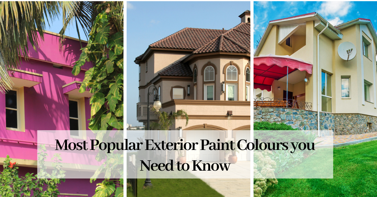 The Most Popular Exterior Paint Colors you Need to Know