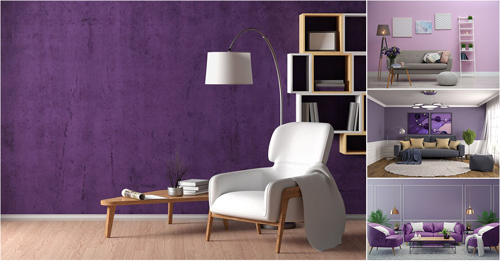 Give A Colorful Twist To Your Living Room With Different Shades Of Violet